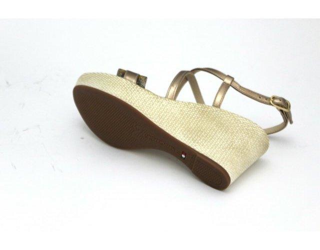 miniatura 9 - Sandali Nero Giardini donna zeppa E012380D pelle nero e rame nuova collezione